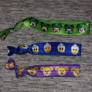 Disney emoji hair ties